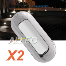 2X12V Stainless Waterproof LED Courtesy Light Cool White Garden Accent Deck Lamp