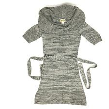 Mudd Short Sleeve Sweater Dress Cowl Neck - Size XS - Gray