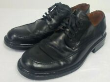 Johnston & Murphy Passport Italy Shoes Size 10.5M Black Leather Mondial Rubber