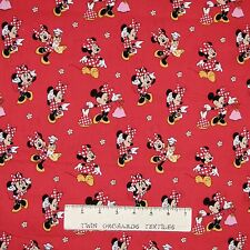 Disney Fabric - Minnie Mouse Loves Dresses Toss Red CP63696 - Springs YARD