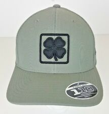 Black Clover Gray BC Lucky Square #3 Snapback Adjustable Hat Black Logo NEW