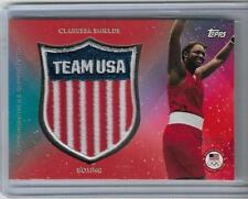 RARE 2016 TOPPS OLYMPIC CLARESSA SHIELDS CREST PATCH CARD ~ 22/25 ~ US BOXING