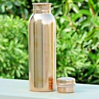 950 ml Handmade Pure Copper Water Drinking  Bottle Ayurvedic Health Benefits