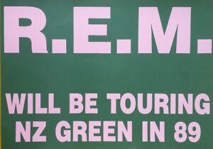 R.E.M 1989 Original NEW ZEALAND Tour Pole POSTER SMALL