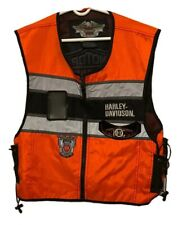 Harley Davidson Orange Owners Group Life Member Vest Palm Springs CA One Size