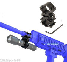 "1"" Scope Ring Picatinny Weaver Rail Laser Flashlight Mount w/ Barrel Adapter"