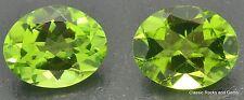 Peridot Olivine Gemstone Pair Peridot Olivin Edelstein Paar 4,90ct