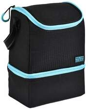 Polar Gear 'Active Lunch' Two Compartment Lunch Cooler - Black and Turquoise