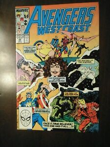 AVENGERS WEST COAST #49 OCTOBER 1989 NM NEAR MINT 9.6 SCARLET WITCH WHITE VISION