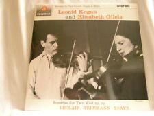 LEONID KOGAN & ELISABETH GILELS Sonatas Leclair Ysaye 180 gram vinyl SEALED LP