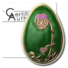 Cook Islands Imperial Faberge Egg in Green Cloisonné  $5 2010 Proof Silver Crown