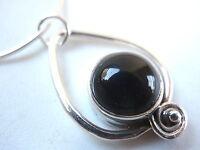 Black Onyx Pendant 925 Sterling Silver Corona Sun Jewelry