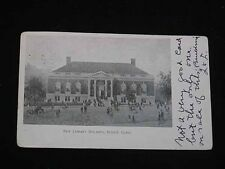 "Antique POSTCARD ""New"" Library Building, BRISTOL, CT. Early 1900s Postmarked"