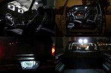 White LED Dome License Plate Cargo & Visors Light Kit 07-12 Silverado Crew Cab