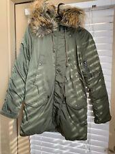 Ralph Lauren Denim & Supply Women Military Green Snorkel Down Parka Jacket Sz M