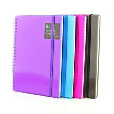 A4 Plastic Notepad Spiral Pad - Book 70gsm Lined  Page Paper Notebook Tabbed
