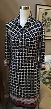 Laundry By Shelly Segal SZ 4 Women's Dress Navy White New MSRP $175