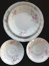 Mikasa RENEE L9711 Fine China Dinner Plate, Salad, 2 Saucers (4 plates total) (S