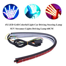 4xLED Grill Colorful Light Car Driving Steering Lamp SUV Streamer Light Decorate