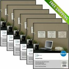 Mainstays 8.5x11 Document Format Picture Frame, Set of 6 Photo Wall Decor