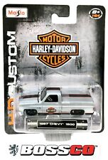 Maisto 1/64 HARLEY DAVIDSON Squarebody 1987 Chevy Silverado  (Lot of 10)