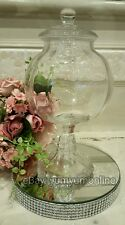 Tall Glass Bon Bon Apothecary Jar Candy Buffet Wedding Party Shabby Chic Vintage