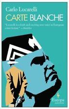 Carte Blanche, Lucarelli, Carlo, Good Book