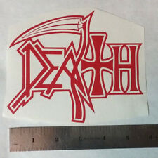 DEATH Vinyl DECAL STICKER BLK/WHT/RED Heavy Metal BAND Logo Window Guitar LP