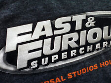 FAST & FURIOUS SUPERCHARGED UNIVERSAL STUDIOS HOLLYWOOD T-SHIRT NEW COLLECTABLE
