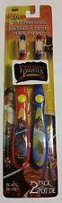 Pirates Children's Toothbrush 2 pack soft 1 Black Beard & 1 Long John Silver