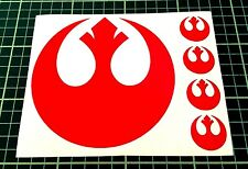 Sticker Autocollant Star Wars Alliance Rebelle Rouge Compatible avec des voitures, ordinateurs portables, tablettes, Casque