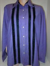 Tommy Hilfigher Womens Long Sleeve Blouse Shirt Top Size L Large Purple Velvet