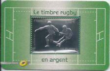 N°597 - Timbre Autoadhésif 5 RUGBY en Argent dans son emballage