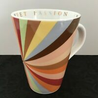 The Cheesecake Factory Mug SWEET PASSION 2005 Coffee Cup HTF RAINBOW SWIRLS -LN!