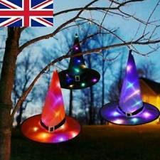 Halloween Witch Hat LED Hat Hanging Glowing Witch Outdoor Yard Tree Decor Props