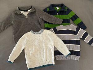 Lot Of 4- Toddler Size 2T, 1/4 Zip, Crewneck Pullover Sweatshirt Sweater Top
