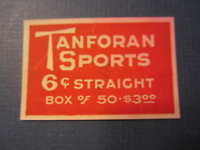 Old Antique - TANFORAN SPORTS - CIGARETTES / Tobacco Box - LABEL