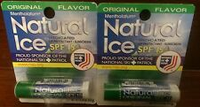 (2) Mentholatum Natural Ice® Lip Protectant/Sunscreen Original Flavor