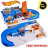 Hot Wheels Flying Customs Playset Retro STO & GO Car Kids Toy Track Set MATTEL