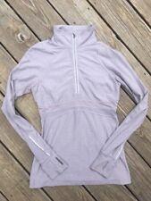 Lululemon Run Dash Half Zip Pullover Jacket Gray Lilac Run Base Layer 8 Medium M