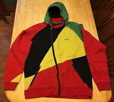 RARE Mens Oakley RASTA Hoodie Jacket XL