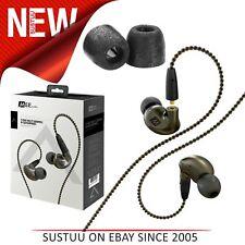 MEE Audio Pinnacle P1 In Ear Isolating Headphones│Replaceable Cable & Mic│Black│