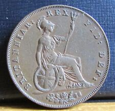 1826 King George IV 4th 1/2d Half Penny Copper Coin