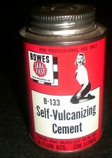 """New listing Awesome Bowes Self Vulcanizing Cement """"Cheerleader"""" Mint Tin Oil Can"""