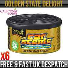 CALIFORNIA CAR SCENTS GOLDEN STATE DELIGHT AIR FRESHENER HOME VAN OFFICE TAXI x6