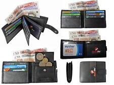 Mens Mans Soft Leather Wallet Credit Cards Wallets GIFT PRESENT BOX BOXED RL46KX