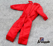 "1/6 Scale Red Jumpsuit One-piece Clothes Engineer Dress for 12"" Action Figures"