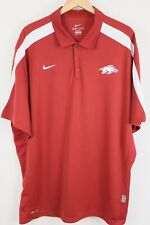 Nike Mens SZ 3XL Red Dri-Fit Arkansas Razorbacks Polo Shirt