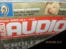 Audio  Hifi Magazin Zeitschrift ,kompletter Jahrgang 2002 Heft 1-12