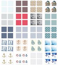 Ambesonne Anchor Nautical Coaster Set of 4 Square Hardboard Gloss Coasters
